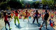 Fitness  todos los domingos  en la Plaza de La Castellana