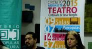 Circuito de Teatro Nacional da inicio a las actividades para conmemorar el año de César Rengifo