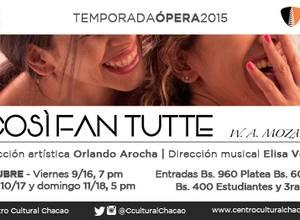 Temporada de Ópera 2015 - Così Fan Tutte