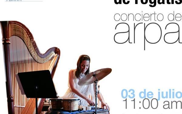 Anna De Rogatis, Concierto de arpa en Los Galpones