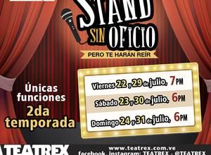 """""""Stand sin oficio"""" llega nuevamente al Teatrex de El Bosque"""