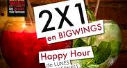 Happy Hour 2x1 en Bigwings en Buffalo Wings