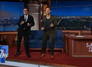 Edgar Ramirez mostró sus pasos de salsa en un famoso show