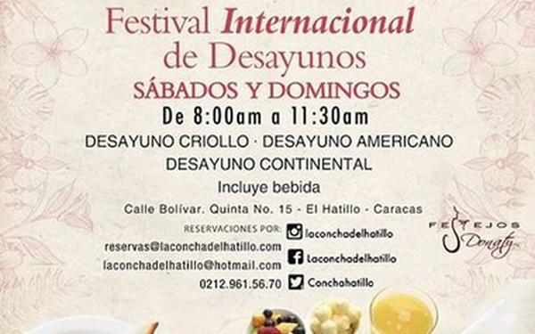 Festival de Desayunos,Sábados y Domingos