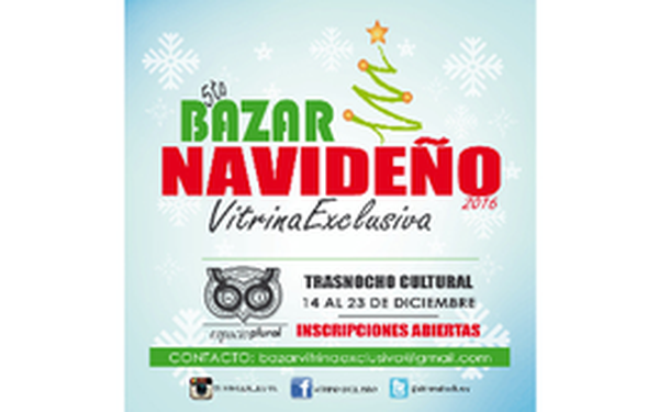5to. Bazar Navideño Vitrina Exclusiva
