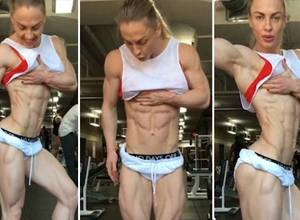 El cuerpo de esta mujer NO posee ni un gramo de grasa