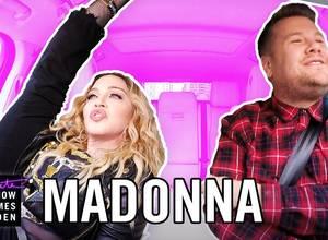 """Te sorprenderá lo que hizo Madonna en el """"Carpool Karaoke"""" de James Corden"""