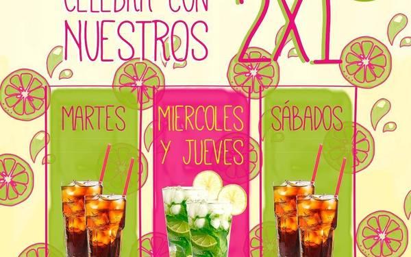 Promo 2 x 1 de Cuba Libre y Mojito