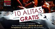 10 Alitas Gratis en Buffalo Wings