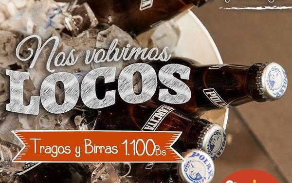 Tragos y Birras a Bs 1.100