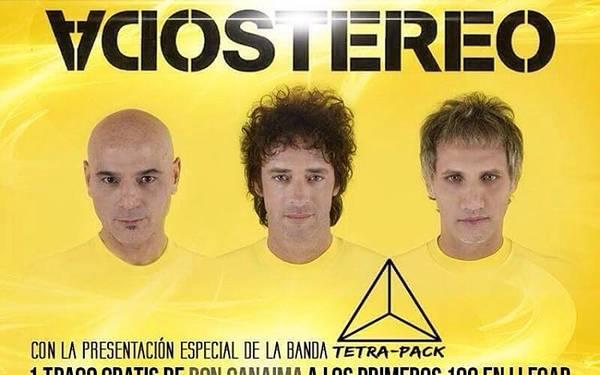 Tributo a Soda Stereo con la band Tetra Pack