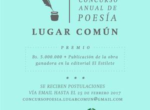 II Concurso anual de poesía Lugar Común