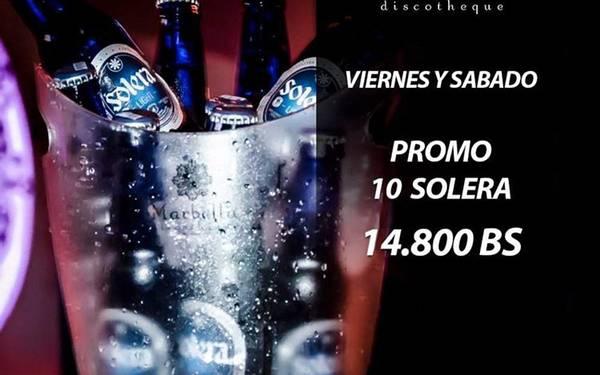 Promo de Birras en Marbella Disco