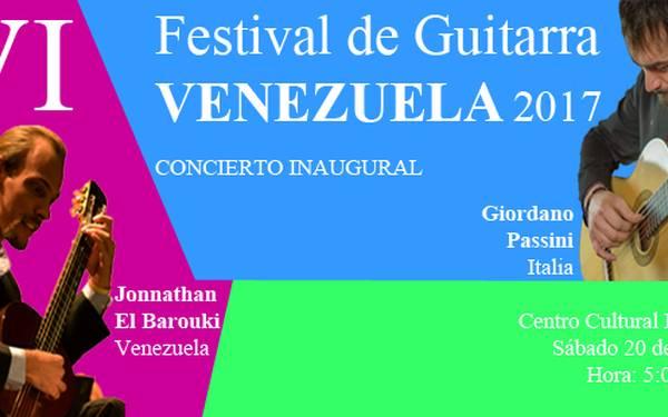 VI FESTIVAL DE GUITARRA VENEZUELA 2017