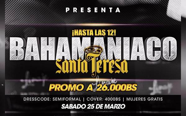 Promo Santa Teresa a Bs. 26.000