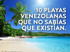 10 playas venezolanas que no sabías que existían