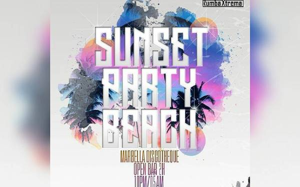 #SunsetPartyBeach