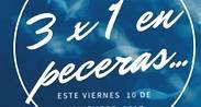 NOCHE DE 3 x 1 EN PECERAS