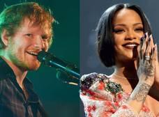 Rihanna y Ed Sheeran fueron los artistas más populares en Spotify durante 2017