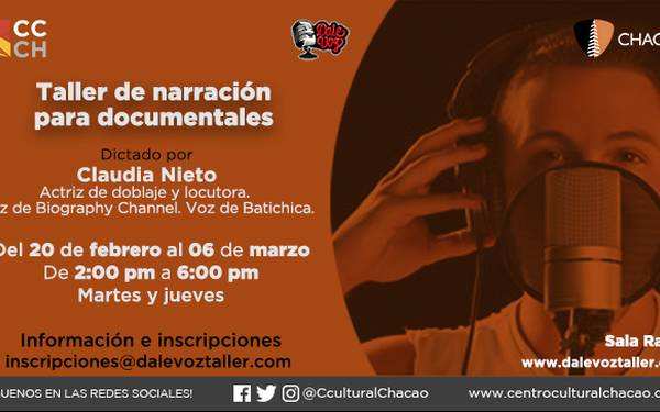 TALLER DE NARRACIÓN PARA DOCUMENTALES