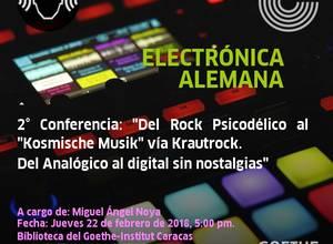 """Miguel Noya dictará la conferencia 'Del Rock psicodélico al """"Kosmische Musik"""" vía Krautrock' en el Goethe-Institut"""
