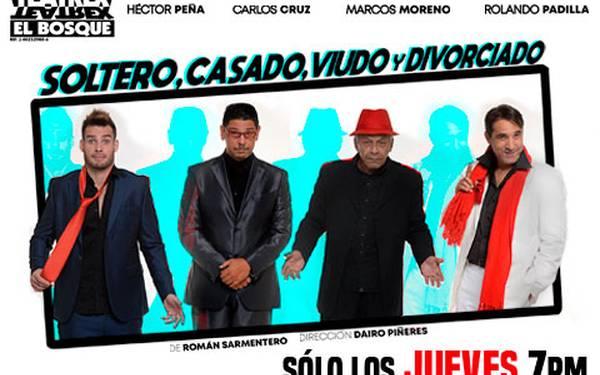 TEATREX EL BOSQUE- SOLTERO, CASADO, VIUDO Y DIVORCIADO
