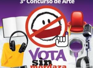 El voto es el escenario del arte en el concurso Vota Sin Mordaza