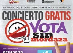 Nuevo video animado invita al concierto Vota Sin Mordaza
