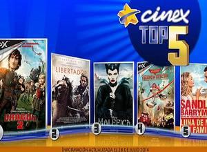 [TOP 5] Las pelis más vistas en Cinex esta semana