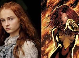 """Sophie Turner, la actriz de Sansa Stark en Juego de Tronos, será la nueva Jean Grey en """"X-Men: Apocalypse"""""""