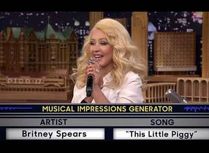 Christina Aguilera imita a Britney Spears #LikeABoss