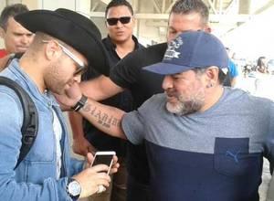 Nacho se tomo su selfie con Maradona