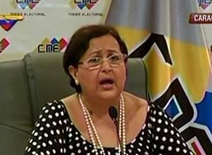 [Mientras tanto en Venezuela] Tibisay Lucena ya anunció la fecha para las parlamentarias