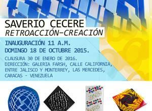 Galería Farsh, inaugura exposición: Retroacción - Creación de Saverio Cecere