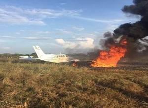 [Mientras tanto en Venezuela] Avión donde iban Lilian Tintori y Rummy Olivo se incendió