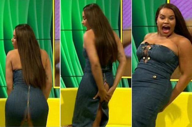 Ella quiso hacer twerking en televisión y terminó mostrándolo todo