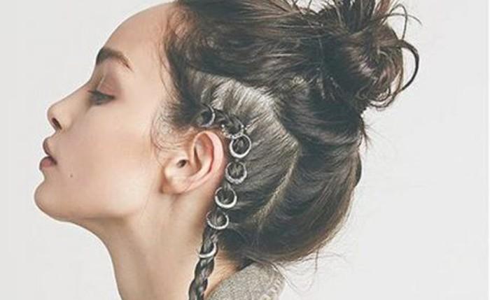 Los piercings en el cabello es la nueva moda femenina