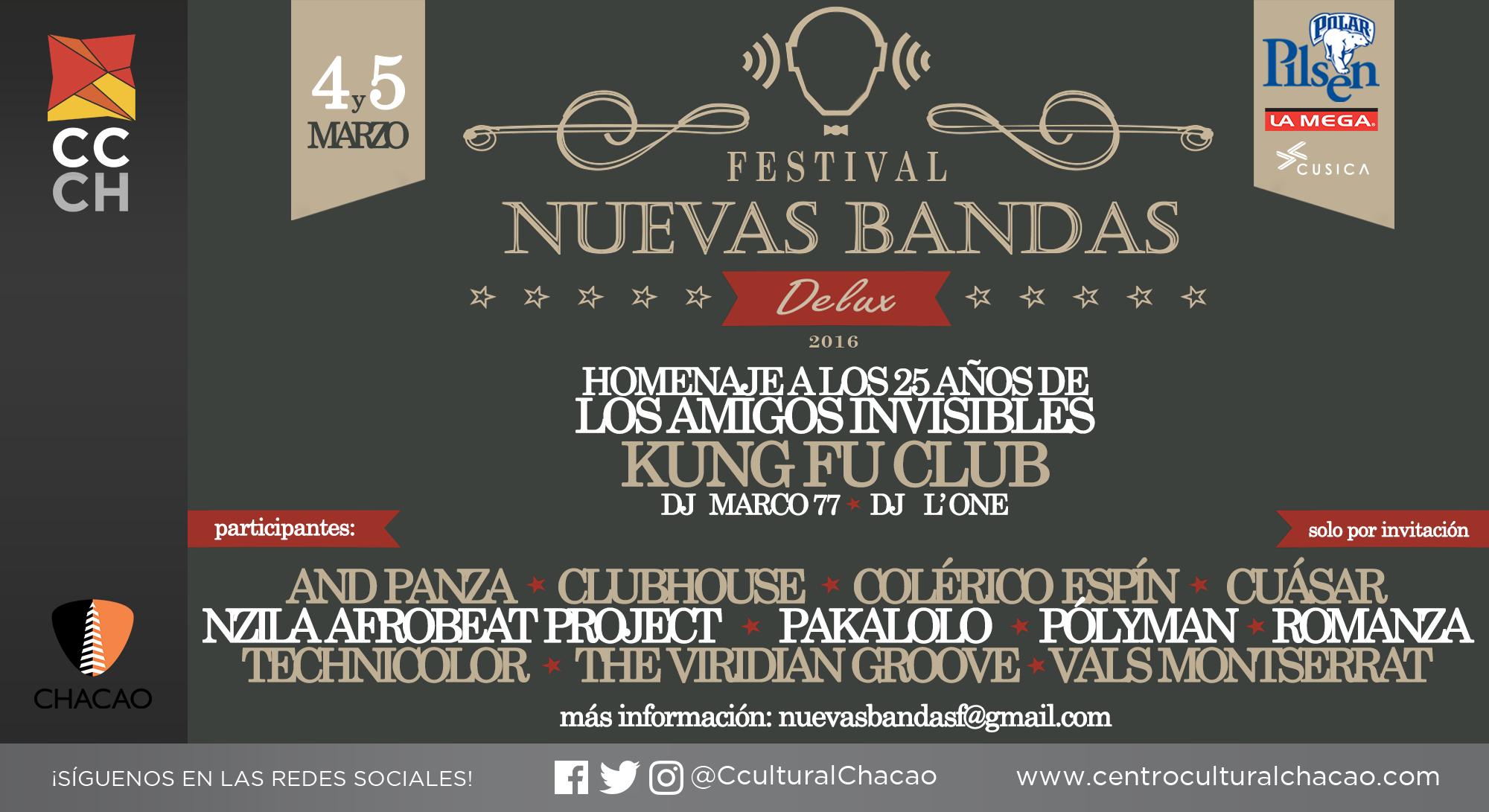 Fundación Nuevas Bandas revela detalles del Festival Nuevas Bandas DeLux
