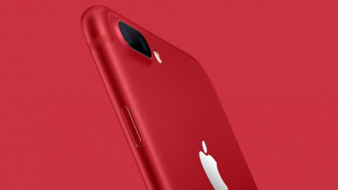 Apple lanza sus nuevos iPhone 7 en rojo para luchar contra el VIH