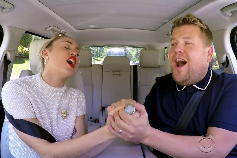 Mira a Miley Cyrus en Carpool Karaoke