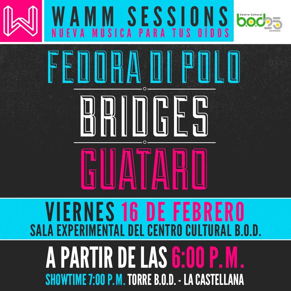 Regresa el WAMM SESSIONS al Centro Cultural B.O.D