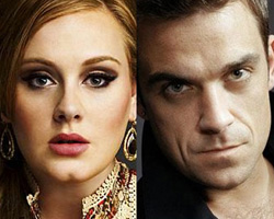 Adele y Robbie Williams, juntos como cazafantasmas