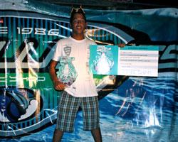 Kleiver Izquiel es el ganador de la competencia Quiksilver King of The Groms