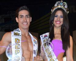Mariana Jiménez y Luis Castillo: Ganadores de Señorita y Mister Deporte 2012