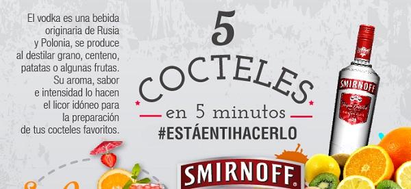 Cómo preparar 5 cocteles en 5 minutos
