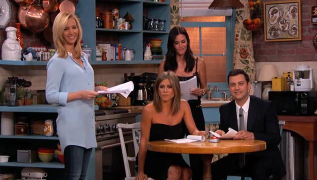 """Así fue la mini reunión de """"Friends"""" en el show de Jimmy Kimmel"""