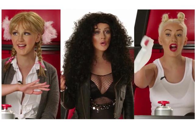 [VIDEO] Christina Aguilera imita a otras divas del pop y es increíble