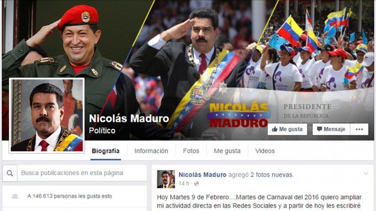 [Mientras tanto en Venezuela] Nicolás Maduro ya tiene Facebook