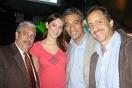 Elías Sebayo, Eva Ekvall, John Fabio Bermúdez y Eloy Áñez de Hard Rock Café