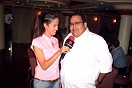 Jhanaly Pérez de Televen entrevistando a Canache